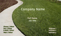 Green Lawn Business Card Template
